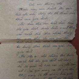 Lá thư cuối cùng đề ngày 6-3-1988 của liệt sỹ Nguyễn Văn Phương (sinh ngày 5-8-1968, Đông Hưng, Thái Bình), ngày những chiến sỹ Hải Quân nhận lệnh vào Cam Ranh để chuẩn bị hành quân ra Gạc Ma.